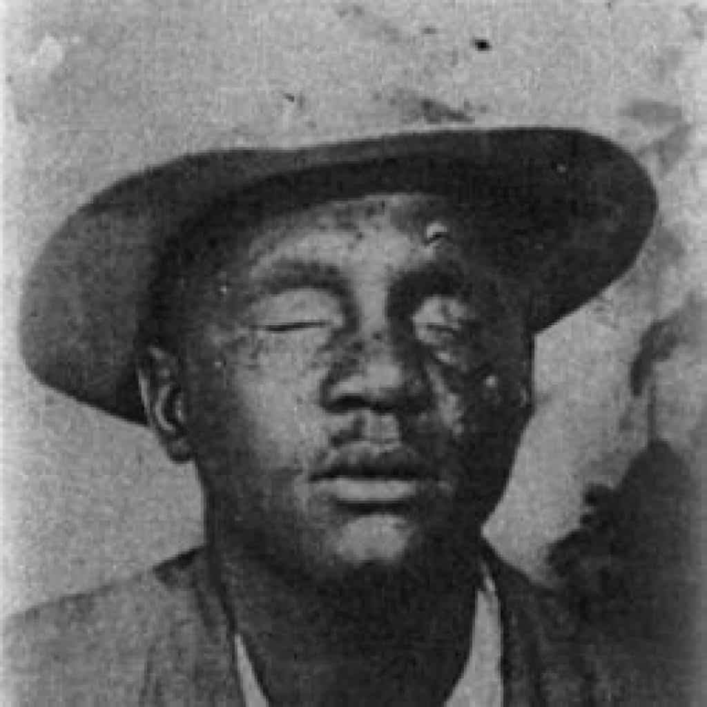 One of just a few photos of Blind Joe Reynolds, the great country bluesman
