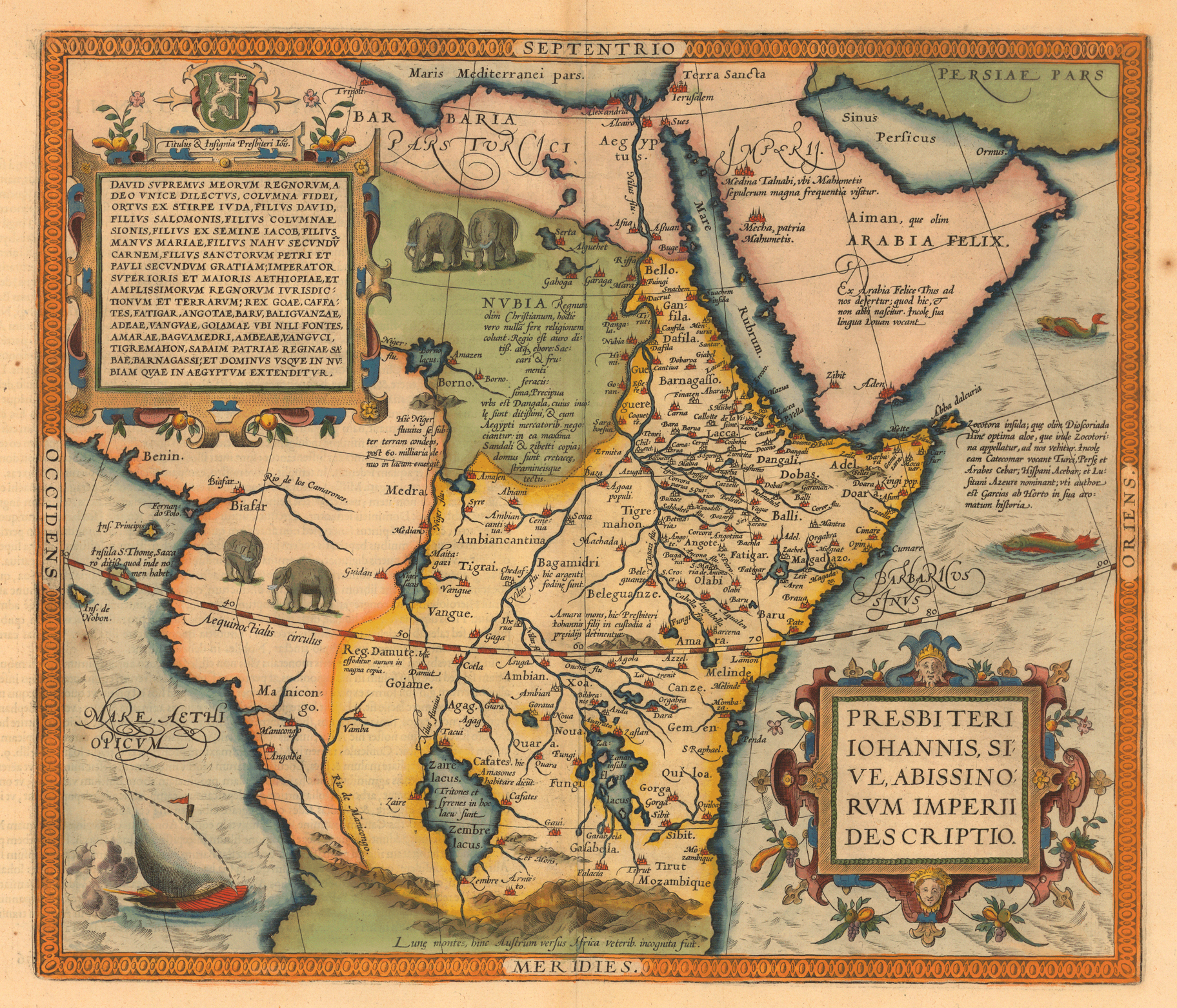 Early map of Africa