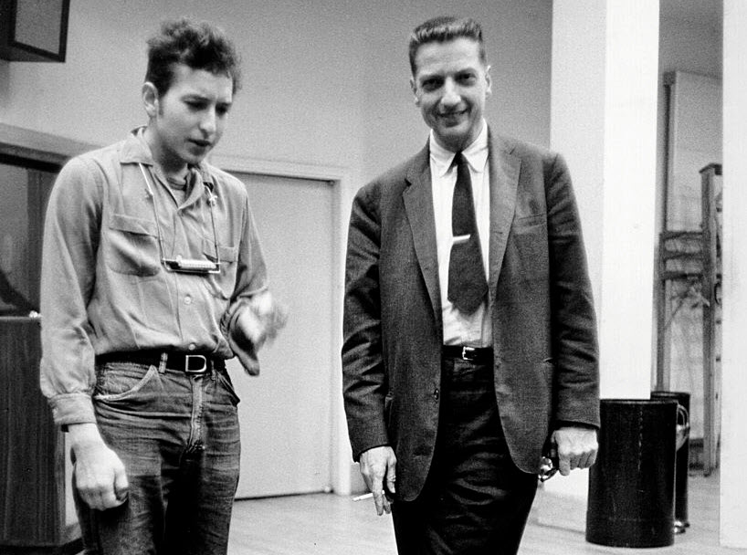 Bob Dylan early with John Hammond Sr.