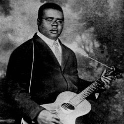 Paramount promo portrait of blues singer & guitarist Blind Lemon Jefferson